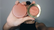 tarte amazonian clay blush (shade sensual) // Milani baked blush (shade 02 Rose D'Oro)